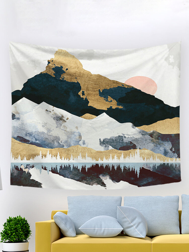 INSスタイルのオイル印刷日没の風景家のタペストリー寝室のリビングルームの壁掛けアート装飾