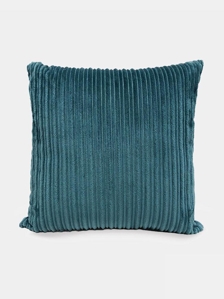Nordic Solid Color Cord breit und schmal gestreift Flanell Kissen Schlafzimmer Sofa Autokissenbezug