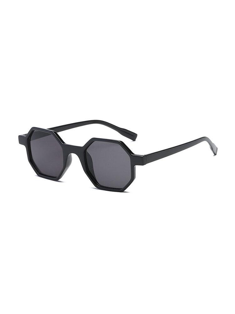 Womens Octagon Frame PC UV400 Sunglasses Exquisite Vogue Wild Modified Face Sunglasses