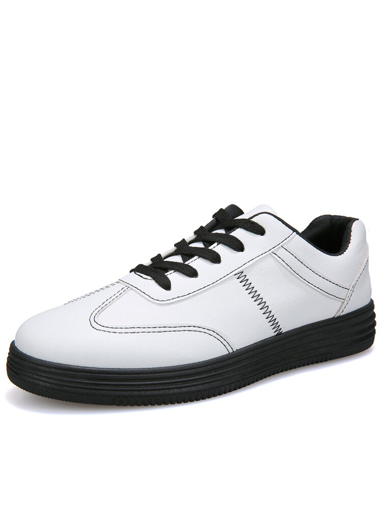 Men Brief Stitching PU Leather Sport Stylish Casual Shoes