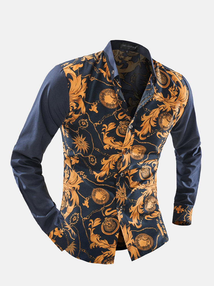 Patchwork_Design_Printing_Shirt_for_Men