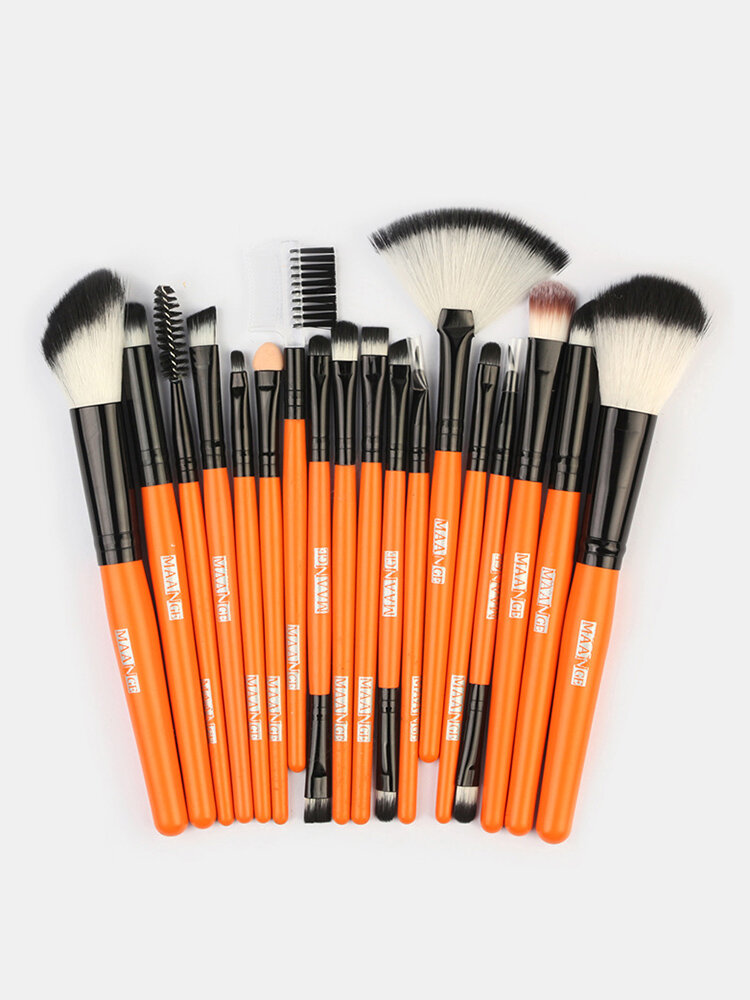 18 Pcs Makeup Brushes Set Eye Shadow Eyebrow Eyelashes Fan-Shaped Eye Makeup Brush