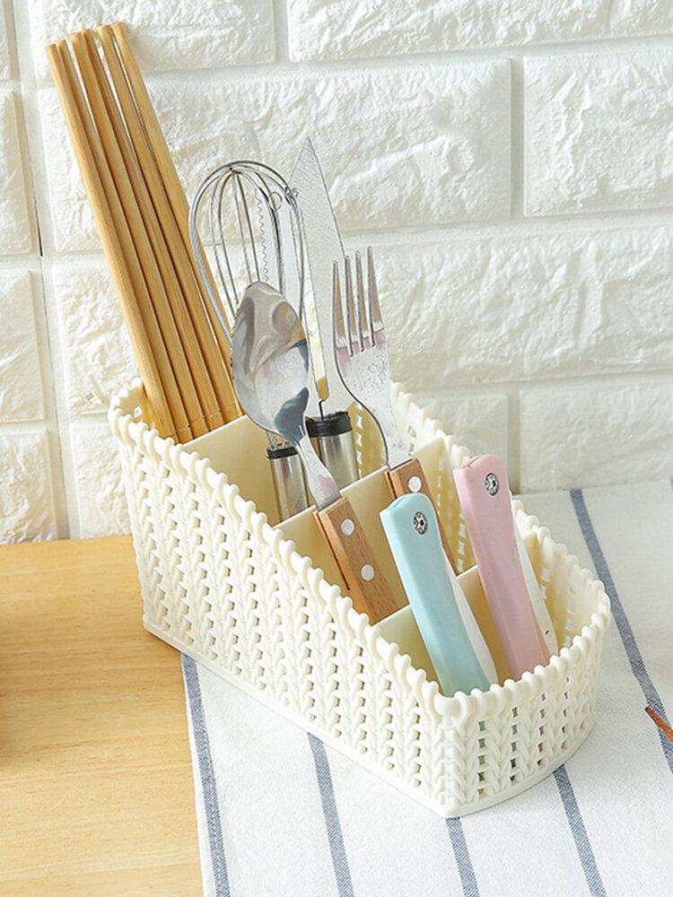 Cosmetic Storage Basket Office Kitchen Desktop Storage Consolidation Box