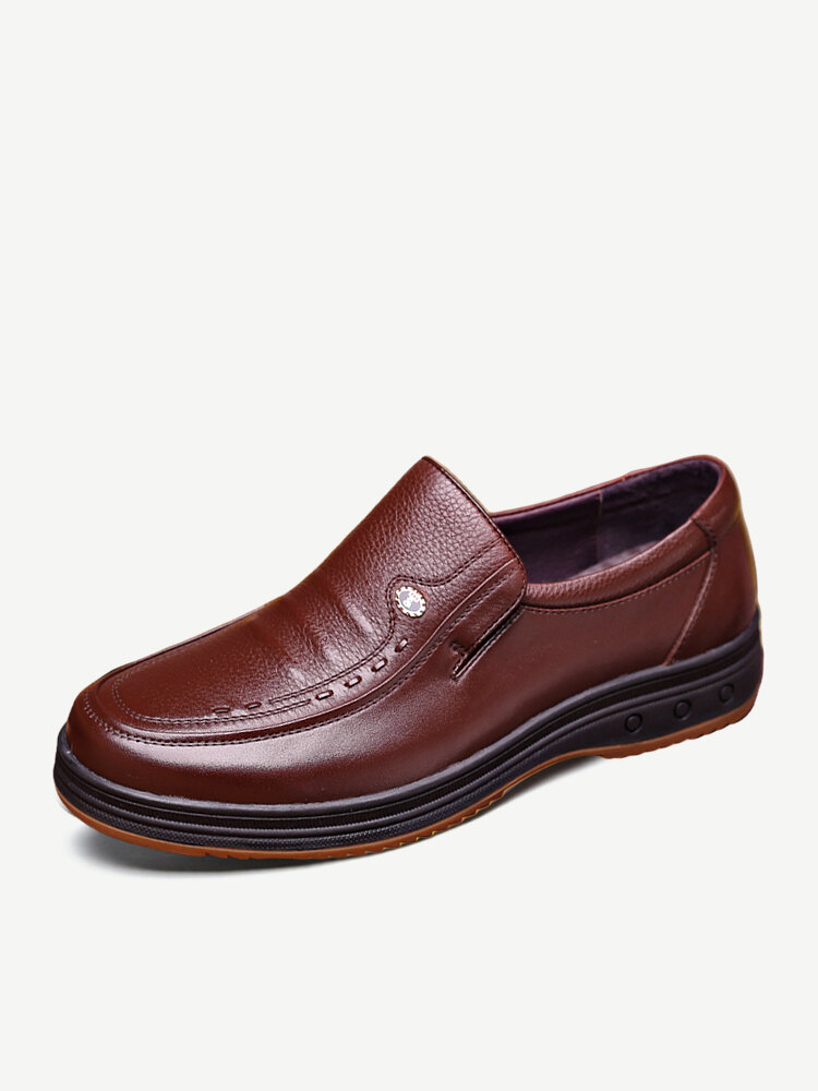 Men Classic Soft Non Slip Business Casual Leather Shoes