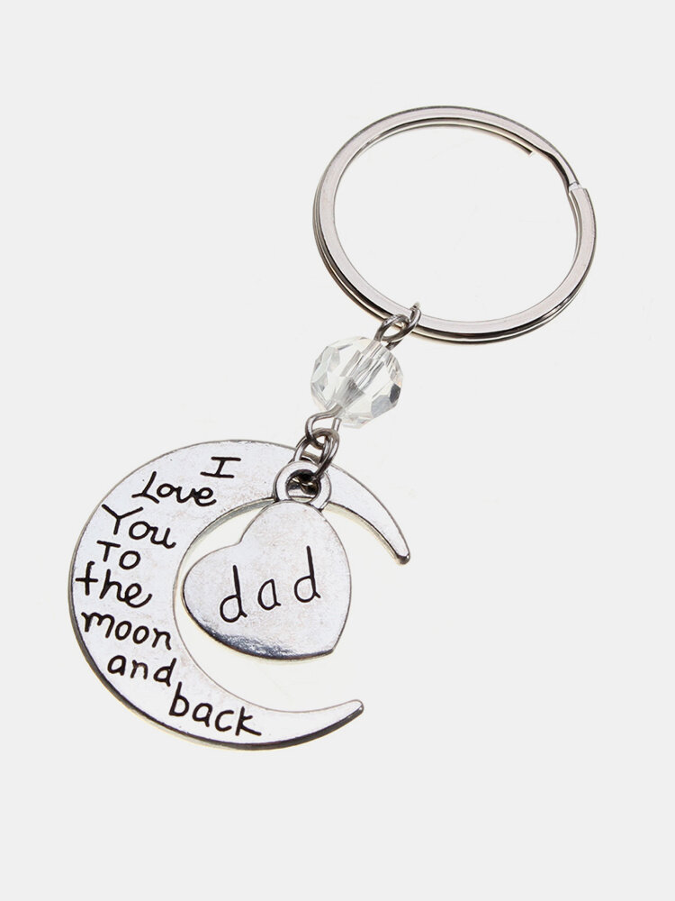 Metal Carved Letter Family Keychain