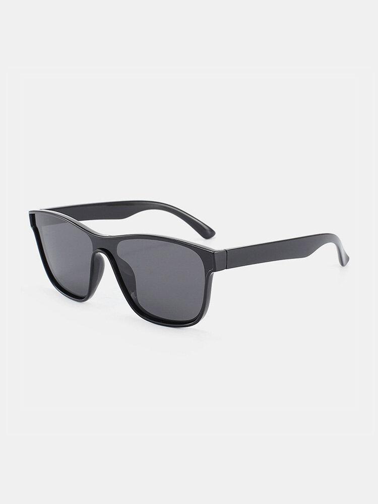 ユニセックスPCフルスクエアフレームHD偏光UV保護アウトドアファッションサングラス