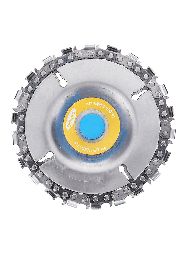 4 Inch Grinder Disc and Chain 22 Tooth Fine Cut Chain Set For 100/115 Angle Grinder