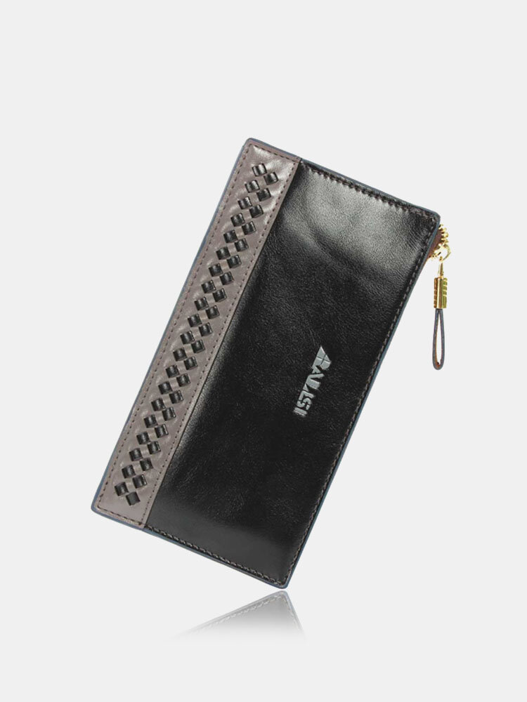 Men Casual Business Long Zipper Wallet Leisure Cash Cards Coins Purse