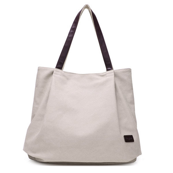 dff9ee17e Hot-sale designer Women Canvas Tote Bags Pure Color Casual Simple Shoulder  Bags Large Capacity Shopping Bags Online - NewChic