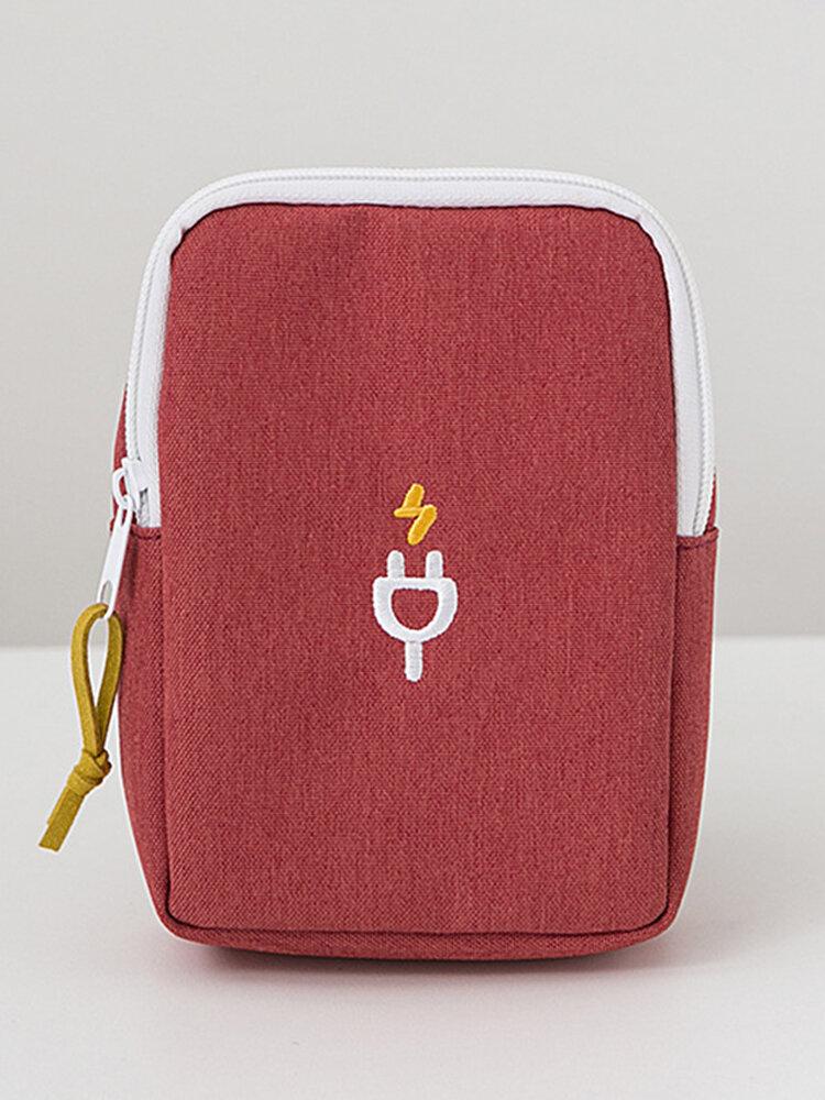 Digital Data Cable Storage Phone Bag Thicker Nylon Hand-held Bag Car Key Camera Bag