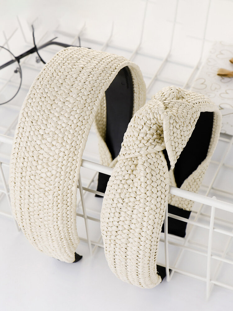 Simple Hand-Woven Lafite Headband Ladies Accessories