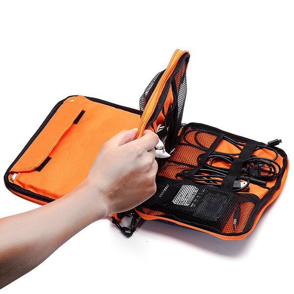 カジュアルな多機能キャンバスマルチポケットIpadストアバッグ電話バッグストレージバッグ