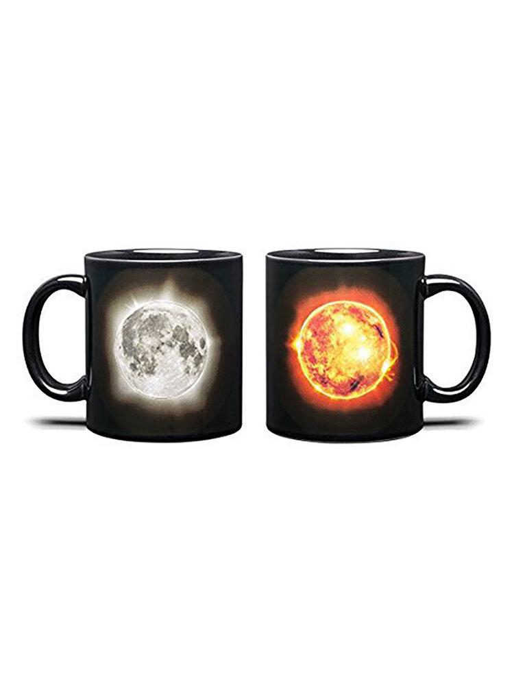 Eclipse Farbwechselbecher Beidseitige Farbkeramikbecher Wärmeempfindliche Kaffeetasse