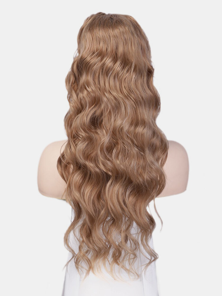 5 Colors Big Wave Long Curly Hair Chemical Fiber Ponytail Wig Piece