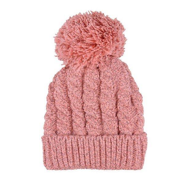Crochet Knitted Patchwork Line Ball Beret Hat Wool Winter Warm Cap