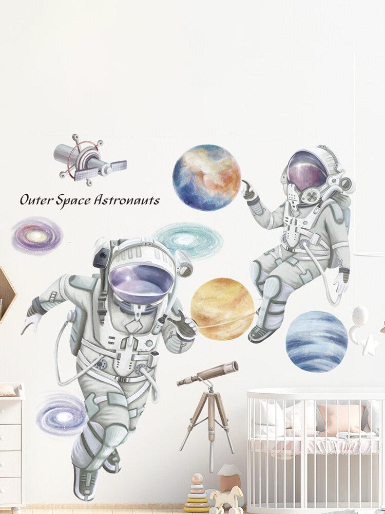 Космическая тема, настенная наклейка с космонавтом, общежитие, гостиная, настенный декор, самоклеящаяся спальня, 3D украшение