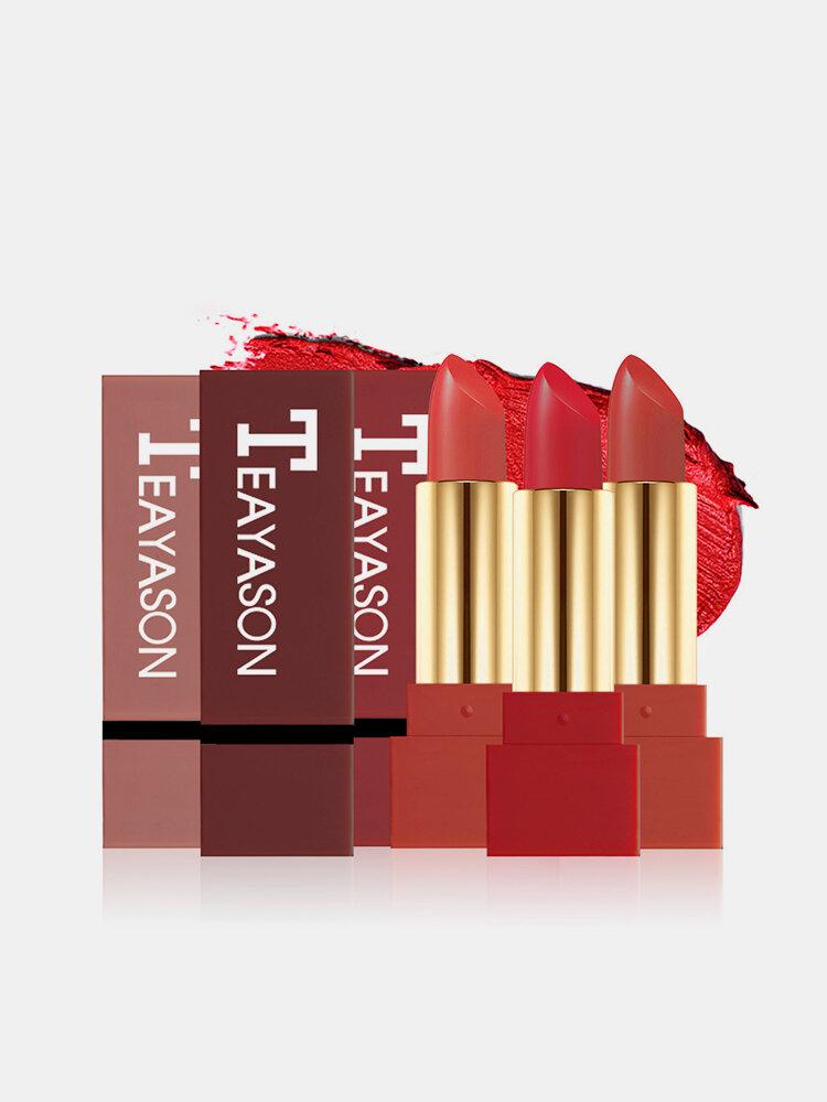 Matte Lipstick Fashion Red Long-Lasting Lip Stick Waterproof Lipstick Full Color Lip Makeup