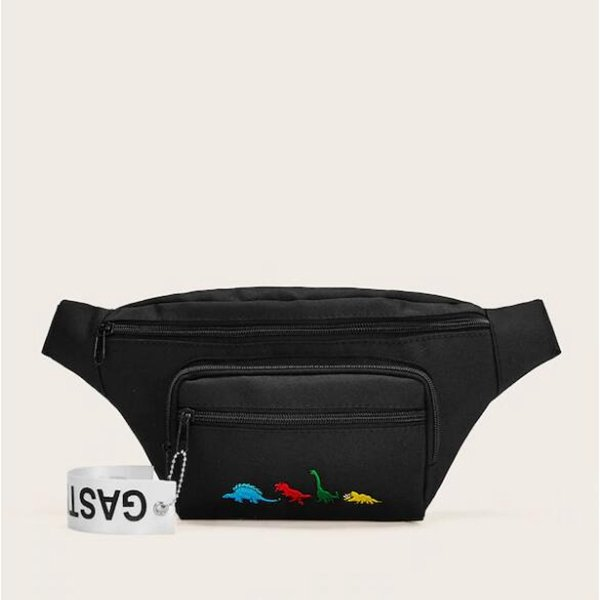 Men And Women Waist Bag Animal Embroidery Fanny Pack