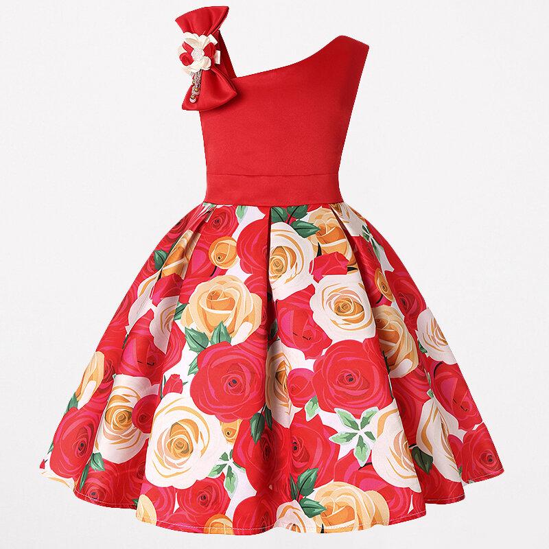 Toddler Christmas Dresses Girls Flower Fancy Dress For 3Y-13Y