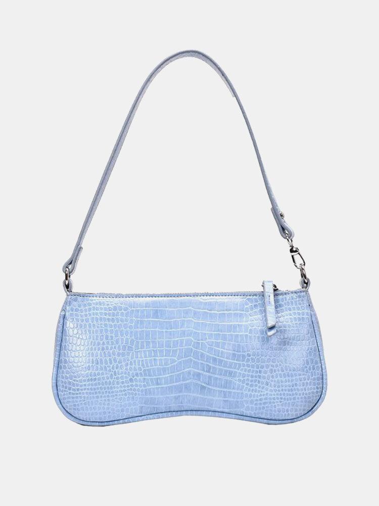 Women PU Alligator Shoulder Bag Handbag