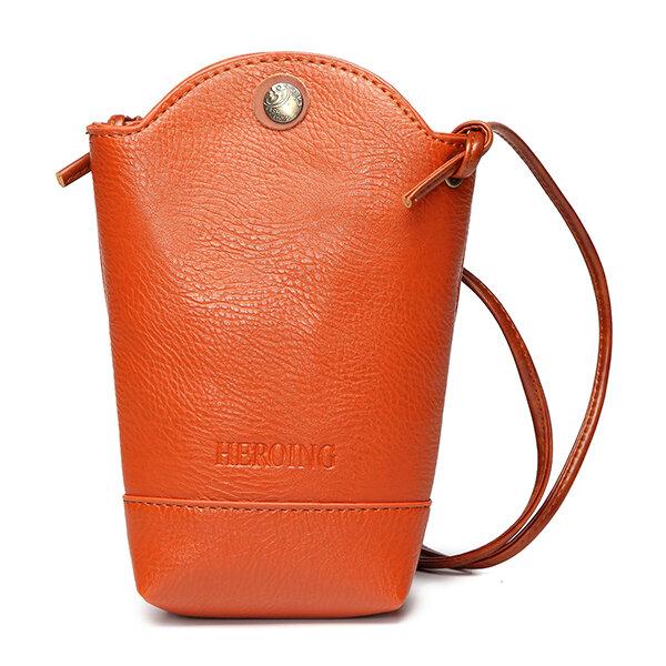 Woman 6.3 Inch Irregular Little Phone Bag Casual Crossbody Bag Bucket Bag