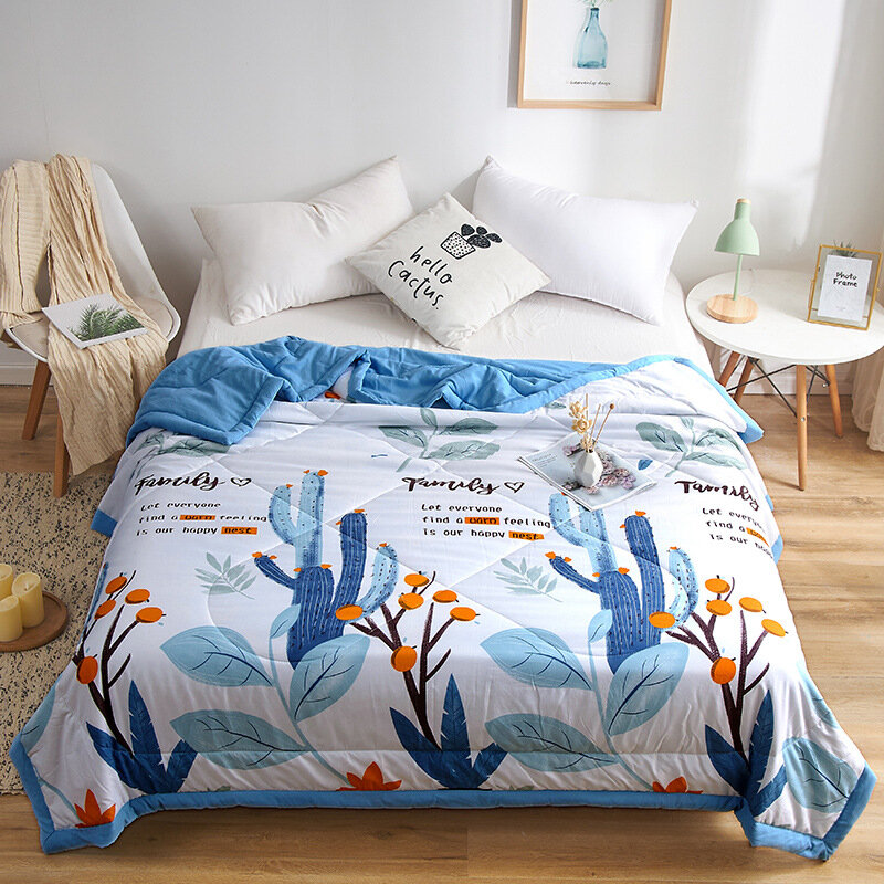 Ruffles Duvet Summer Washsed Cotton Throw Blanket 1pc Patchwork Quilts Home Bed Cover Butterfly Cool Bedspread Pastoral