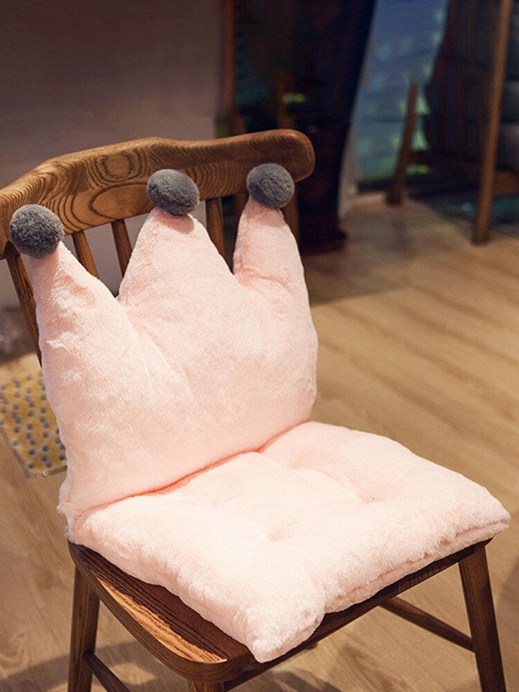 Crown Shape Lovely Cushion Chair Cover Soft Comfortable Chair Cushion Mat