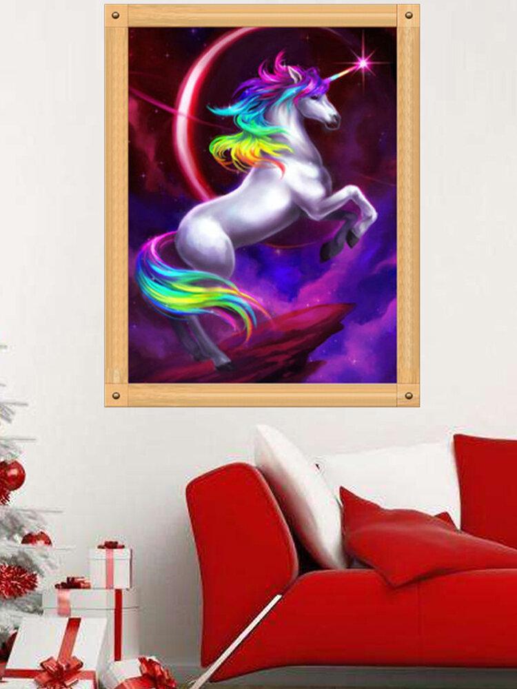 Unicorn DIY 5D Diamond Embroidery Painting Cross Stitch Craft Living Room Home Decor