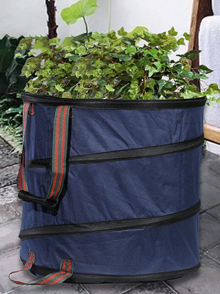 87L Bolsa de Jardinería Portátil Reutilizable Yard Hoja Herramienta de Almacenamiento Bolsa de Basura Bolsa de Herramientas