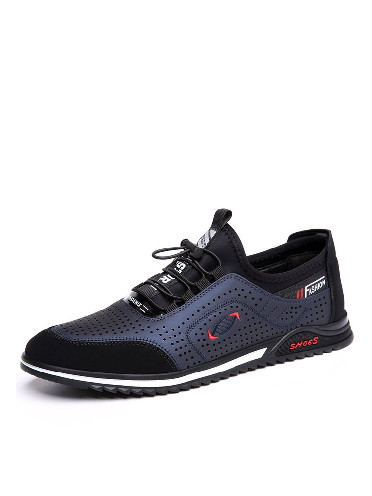 Men Lace-up Breathable Hard Wearing Non Slip Casual Comfy Loafers