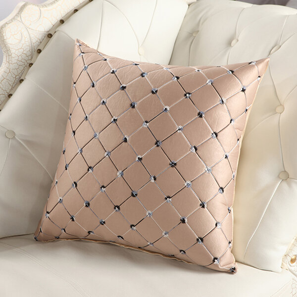 45*45_cm_Pure_Color_Check_Pattern_Soft_Cushion_Cover_Simple_Elegant_Pillowcase_House_Decor