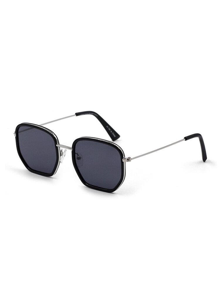 Женские солнцезащитные очки с металлическим каркасом в стиле ретро с нерегулярной защитой Shpae UV