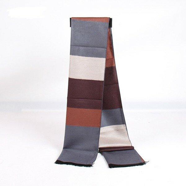 Men Women Classical Lattice Stirped Colored Interval Scarves Plaid Tassel Wraps