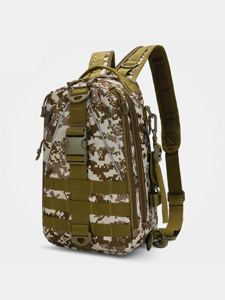 Men Outdoor Sport Polyester Bag Multifunction Large Capacity Fishing Travel Hiking Backpack