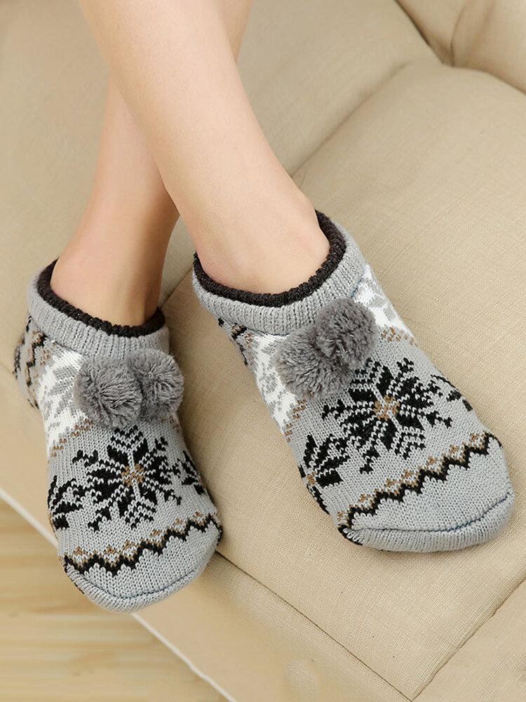Unisex Thick Warm Floor Socks Home Non-slip Bottom Socks Breathable Soft Ankle Socks