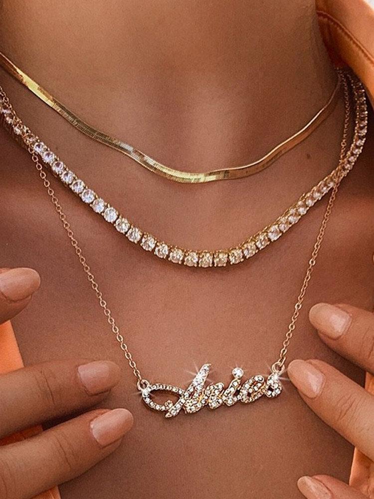 Collar Vintage Doce Constelaciones Mujer Collar de diamantes con incrustaciones de múltiples capas Colgante