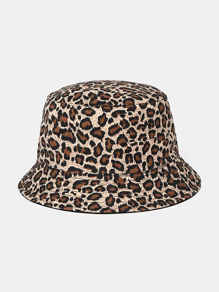 Women's Man's Sunshade Sun Hat Color Leopard Fisherman Cap