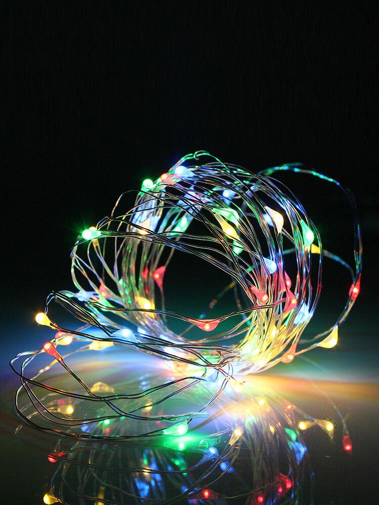 5M 50 LED USB filo d'argento flessibile stringa fata luce Chrismas Wedding Party Home Decor