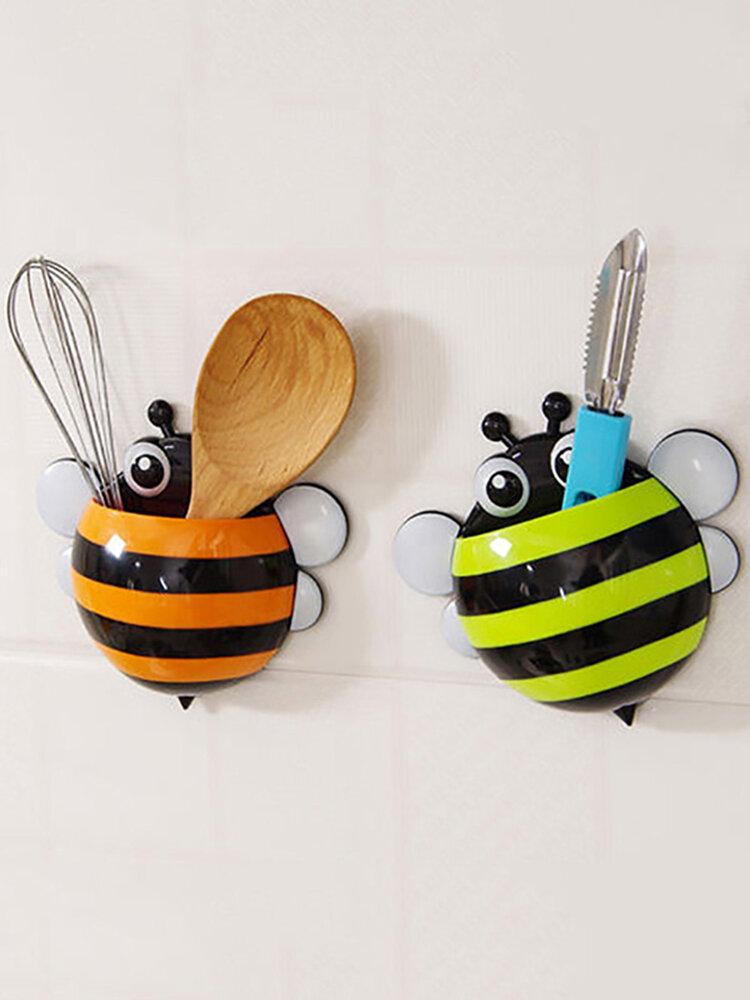 Cartoon Apis Florea Bee Osculum Type Toothbrush Holder Bathroom Storage