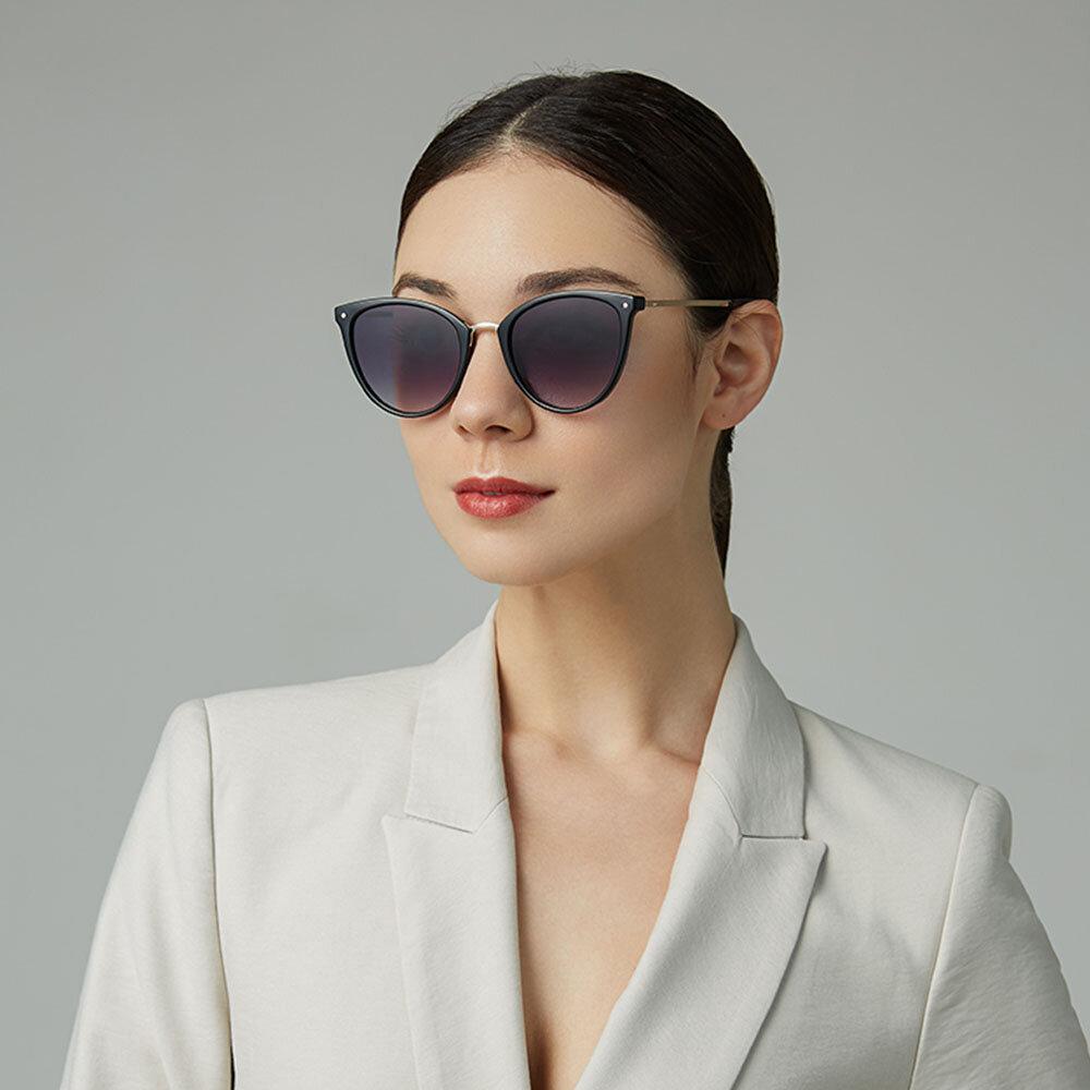 Women Casual Fashion Metal Full Frame Plus Size UV Protection Sunglasses