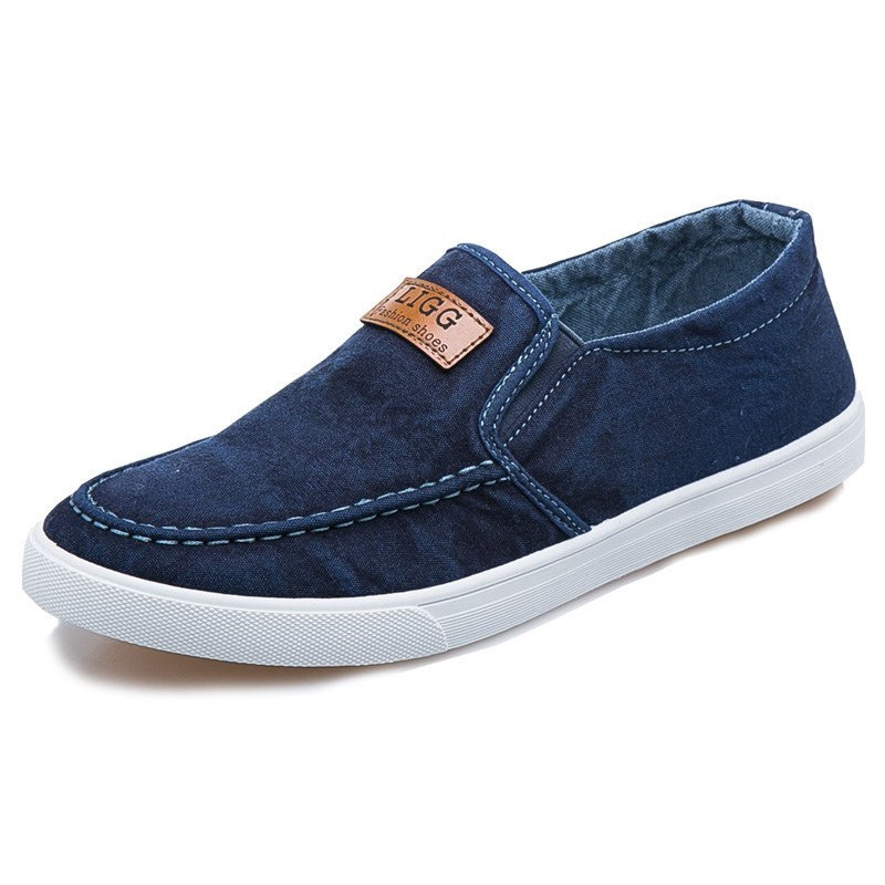 men-canvas-bereathbale-flat-soft-sole-slip-on-casual-shoes by newchic