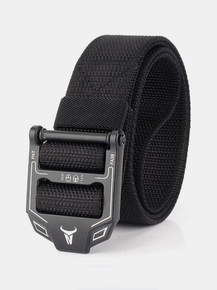 125cm Men Vogue Belt Ring Buckle Nylon Canvas Belt Adjustable Long Weave Outdoor Casual Belt