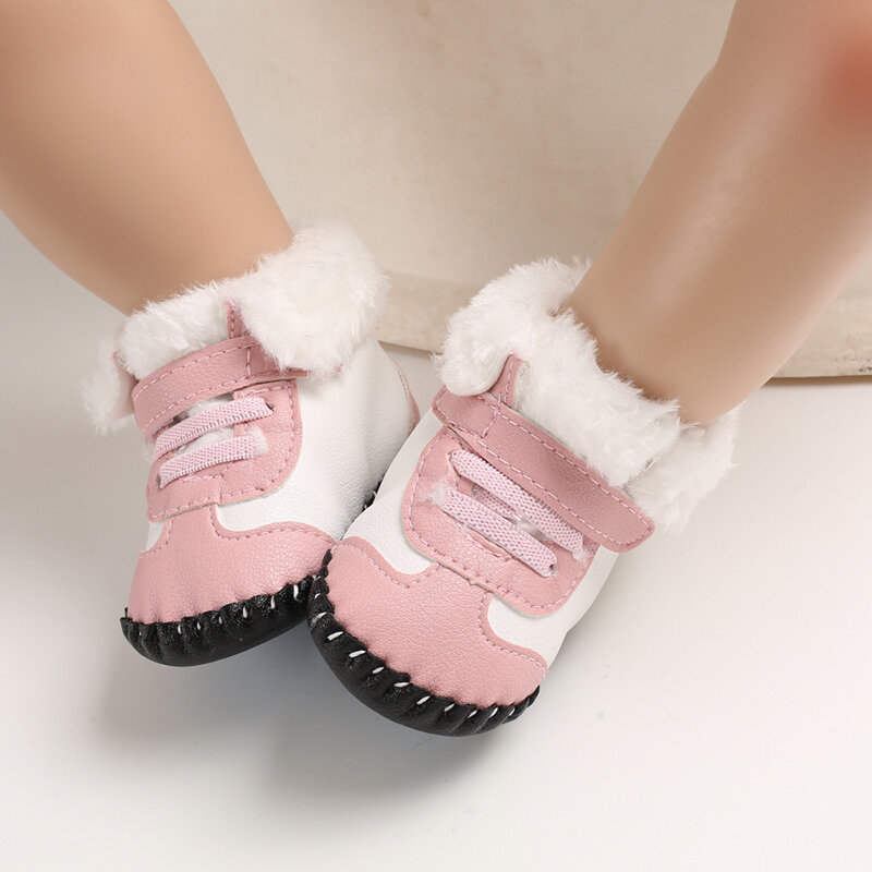 Baby Toddler Shoes Non Slip Soft Plush Warm Lined Snow Boots