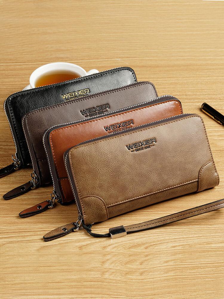 Men Retro PU Leather Multi-slots Retro Large Capacity Card Holder Wallet