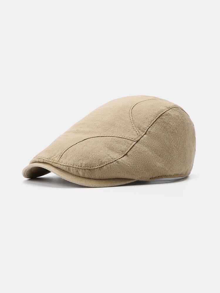 Men Women Cotton Retro Wild Beret Cap Sunshade Casual Outdoors Peaked Forward Cap