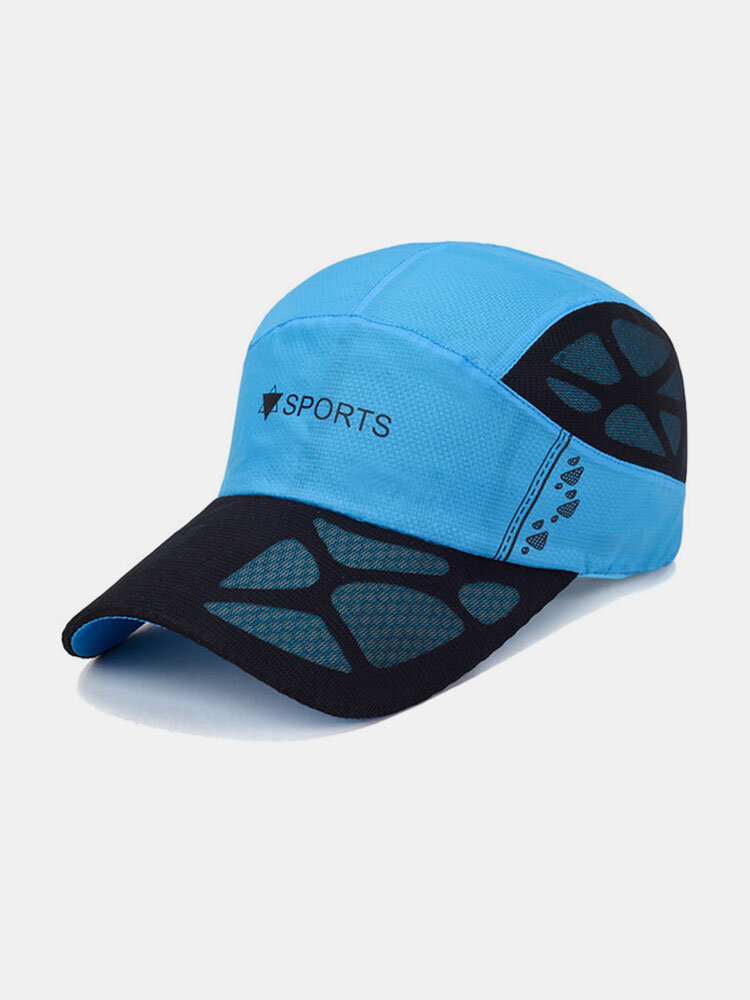 Men Women Summer Quick Dry Baseball Cap Breathable Mesh Visor Cap Cool Sports Cap