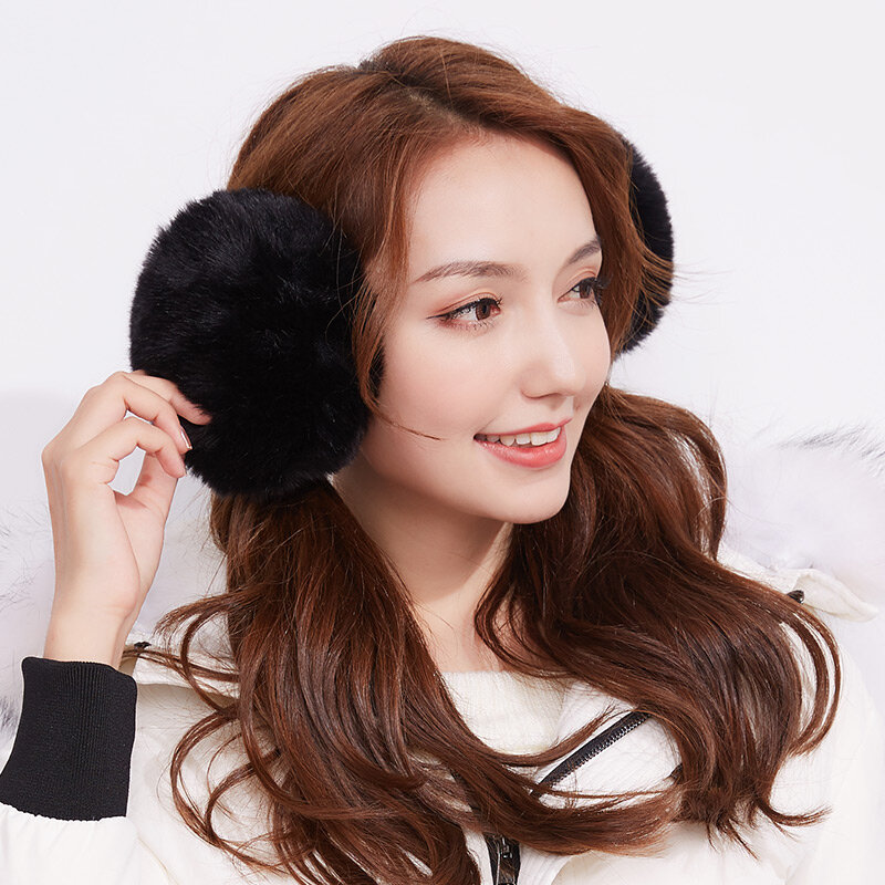 Winter Women Unisex Ear Warmer Plush Earmuffs Outdoor Windproof Warm Earmuffs