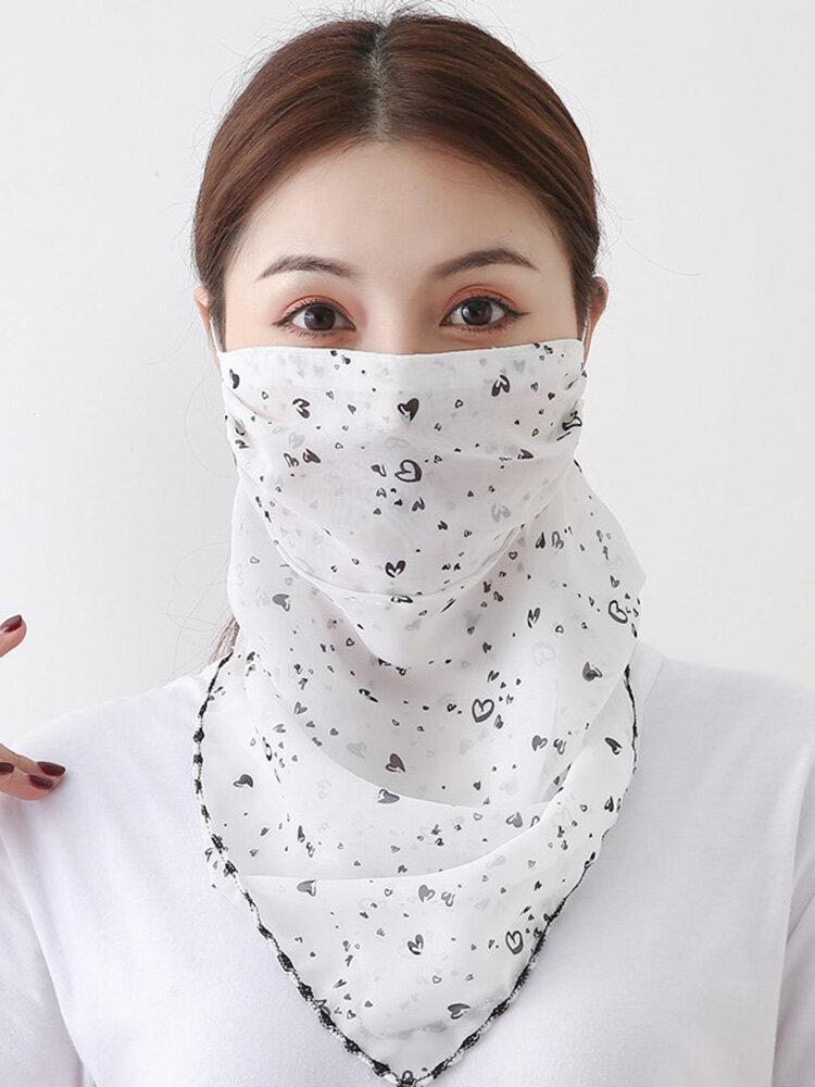 日焼け止めスカーフ耳に取り付けられた通気性乗馬フェイスマスク夏速乾性印刷ネックマスク