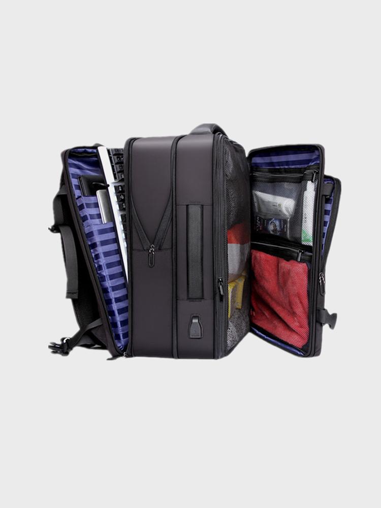 Men Multifunction  Extension Capacity Large Capacity USB Charging 14 Inch Laptop Bag Travel Backpack