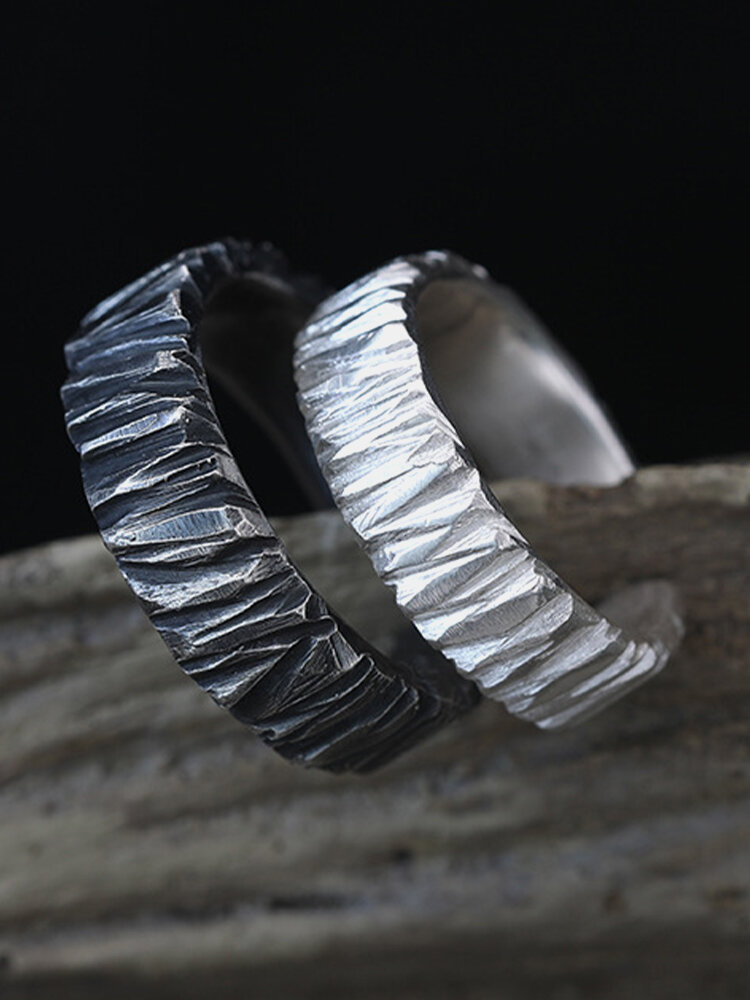 Vintage Carved Geometric-shaped Adjustable Opening Alloy Ring